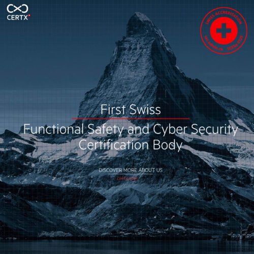 CertX: First Swiss Functional Safety and Cyber Security Certification Body